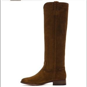 Frye Cara  suede knee high boots brown 7